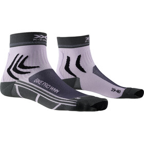 X-Socks Bike Pro Calcetines Mujer, charcoal/magnolia purple